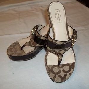 Caoch Sandals, GUC, Size 6.5 Signatute Fab